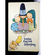 RT42 Tuck Chicks and Children Postcard Series 750 Loving Easter Not Post... - $12.00