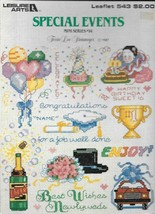 Leisure Arts Leaflet #543 - Special Events - Cross Stitch - $5.94