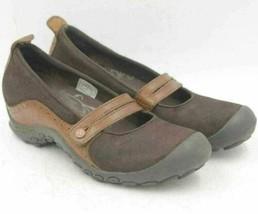Merrell Women Mary Jane Flats Plaza Bandeau Size US 7 Espresso Leather - $20.20