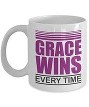 Grace Wins Every Time Christian Music Inspired Coffee & Tea Gift Mug For Worship - $22.53