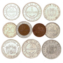 BOLIVIA COINS, SOUTH AMERICA 10 CENTAVOS - 5 BOLIVIANOS OLD COLLECTIBLE ... - $9.90