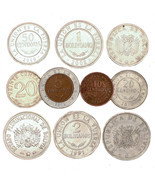 BOLIVIA COINS, SOUTH AMERICA 10 CENTAVOS - 5 BOLIVIANOS OLD COLLECTIBLE ... - $9.90