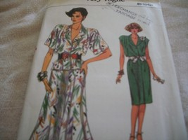 Vogue Misses' Cap or Short Sleeve Top & Skirt Pattern 9608 - $5.00