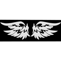 PANDA SUPERSTORE White Self-Adhesive Decorative Angel Wings Car Stickers and Dec