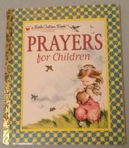 Prayers For Children Little Golden Book 1980 - $4.94