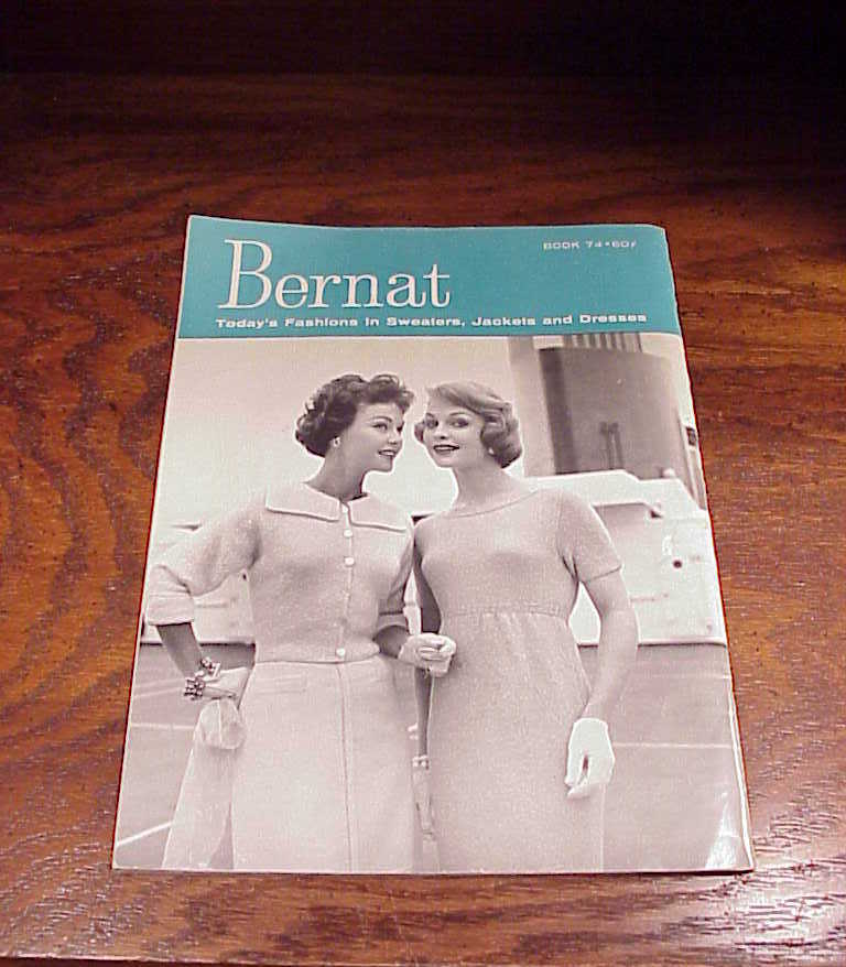 1959 Bernat Handicrafter Today's Fashions in Sweaters, Jackets Dresses Book, 74