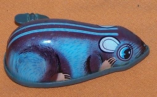 Mouse Wind Up Toy  Japan Vintage