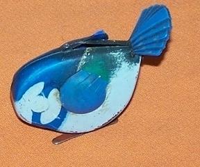 Blue Bird Wind Up Toy  Japan Vintage