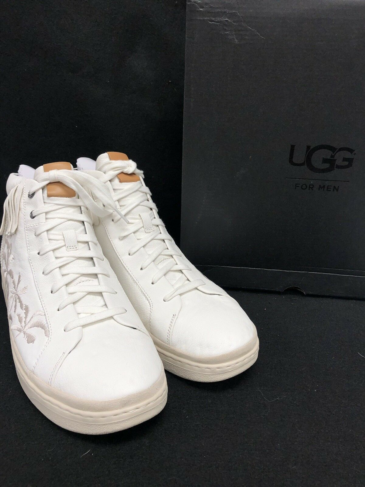 Ugg Australia Men's Cali Lace High Fringe Palms Sneakers Leather Lace Up 1020138
