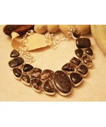 RARE and Huge Turtella Gemstone Sterling Silver Necklace - $125.00
