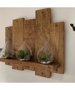 Handmade wooden shelf rustic farmhouse wall art decor vintage  - £47.52 GBP
