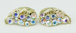 Vintage Lisner Aurora Borealis GT Earrings - $10.00