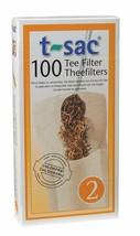 T-Sac Set of 100 Tea Filter Bags, Disposable Tea Infuser, Size 2 - $11.95
