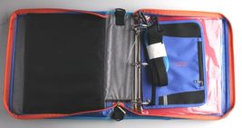 "NEW Five Star Zipper Binder + Tech Pocket, 2"", Blue Orange, 12-3/4"" x 12"" NWT image 3"