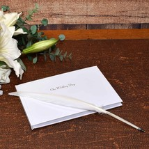 Silver Foil Stamped Our Wedding Day Guest Book - $18.50
