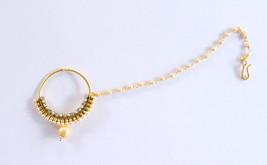 Gold Bridal Nose Ring/Gold Drop Wedding Nose Ri... - $18.00
