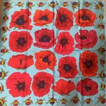 """Gucci Scarf Flower rose 87 cm Silk Red Floral 34"""" Vintage - $177.21"""