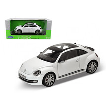 2012 Volkswagen New Beetle White 1/18 Diecast Car Model by Welly 18042w - $59.82
