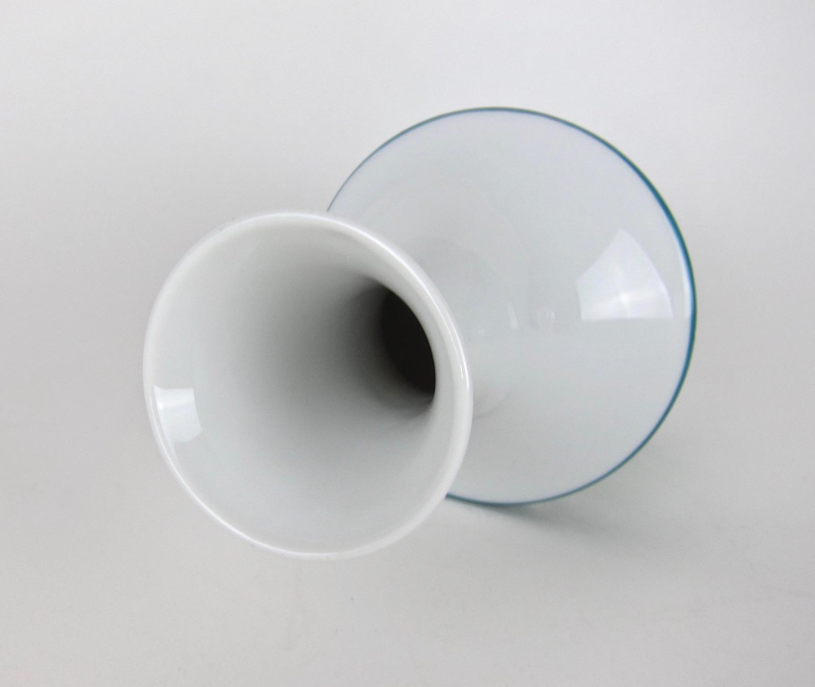Midcentury Spahr & Co. Silver Overlay German Edelstein Porcelain Vase