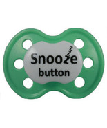 "Pink ""Snooze Button"" Posh Pacifier --Binky's With Sass - $3.00"
