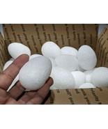 36 Sparkling White Styrofoam Eggs Decorate Easter Spring Play Project Or... - $14.69