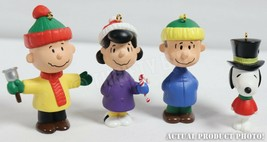 Hallmark Peanuts A Charlie Brown Christmas Ornaments Lot of 4 Figures - $14.84