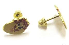 14K YELLOW GOLD BABY TASMANIAN DEVIL EARRINGS - $29.99