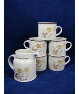 Lot of 4 Cups Royal Doulton 1977 Lambethware and a Creamer Sandsprite E... - $34.64