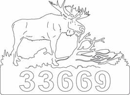 HEAVY DUTY METAL MOOSE OUTDOOR ADDRESS SIGN CUSTOM - $49.99