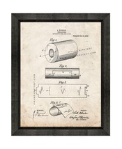 Tubular Core of Toilet Paper Roll Patent Print Old Look with Beveled Wood Frame - $24.95+