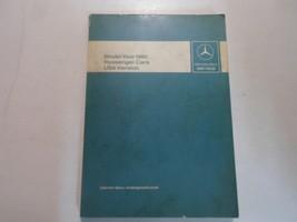 1980 Mercedes Benz Passenger Cars USA Version Intro Into Service Manual ... - $34.62