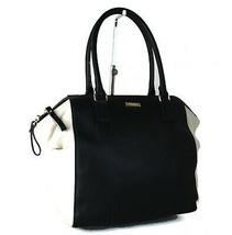 Kate Spade New York Black & Cream Leather Women Hand Bag Shoulder Bag Pu... - $167.31