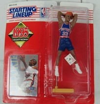 1995 NBA GRANT HILL Rookie of the Year Detroit Pistons Starting Lineup NIP - £3.81 GBP