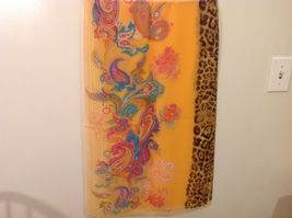Paisley, Lines, Leopard Print Summer Sheer Fabric Multicolor Scarf, 6 colors image 12