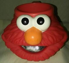 Sesame Street ELMO 3D Plastic Figural Mug Cup 1994 Applause Jim Henson  - $11.59
