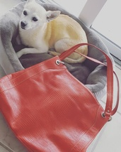 Kenneth Cole Red textured large leather bag, Li... - $35.00