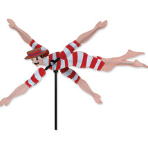 "Victorian Swimmer Staked Wind Whirli Wing 20"" Whirligig Spinner 13...PR ... - $27.99"