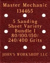 Master Mechanic 134465 - 80/100/150/240/400 Grits - 5 Sandpaper Variety Bundle I - $7.53