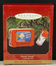 Hallmark Ornament HOWDY DOODY LUNCH BOX SET 1999 New in Box - £10.39 GBP