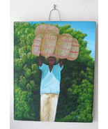 Rare Signed EMMANUEL DULCE Contemporary Art Painting Haiti - Listed Hait... - $399.99