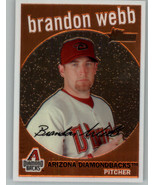 2008 Topps Heritage Chrome #C45 Brandon Webb 193/1959 Arizona Diamondbacks - $8.99