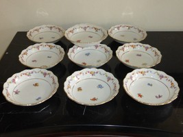 "Schumann Bavaria Germany Floral Design & Gold Trim 5 1/8"" Dessert Bowl S... - $99.00"
