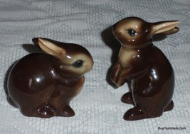Lot of 2 Goebel Brown Bunny Rabbits Made In Germany - GREAT MOTHER'S DAY... - $23.27