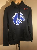 NWT Medium NIKE Boise State Broncos HOODIE FLEECE Sweatshirt ADULT MEN'S... - $35.63