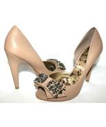 ❤️STUNNING SAM EDELMAN Lorna Studded Nude Leather d-Orsay Pump 8 M GREAT... - $42.74