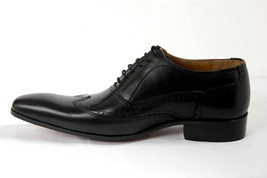 Shell Cordovan Men Hand Made Treasure Bearer Gaspare Wingtip Black Leather Shoes image 3