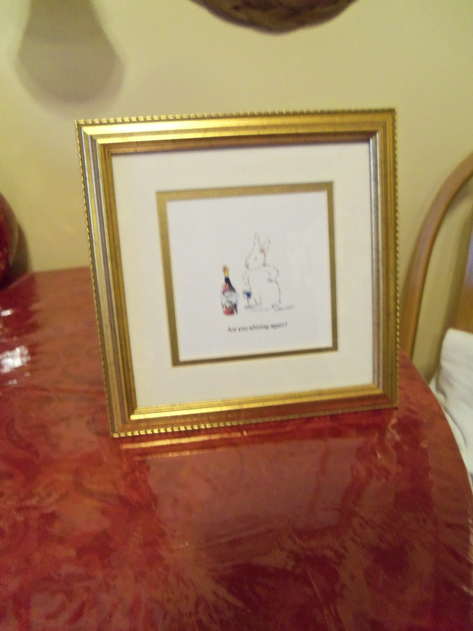 Framed and Matted Novelty Picture