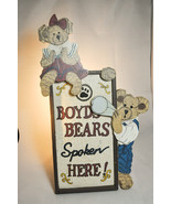 "Boyds Bears: Boyds Bears Spoken Here - Display Stand - # 654900 - 15"" x ... - $18.60"