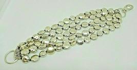 Lucky Brand Silver Textured Metal Bracelet - $13.99