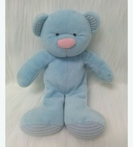 "9"" Russ Berrie Blue Baby Bear Rattle Thermal Ears Feet Plush Toy Vintage... - $29.99"